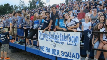 Blue Out Football Game, Benefit for Thelma Urban, Raider Band, Sports Stadium, Tamaqua, 9-4-2015 (368)