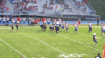 Blue Out Football Game, Benefit for Thelma Urban, Raider Band, Sports Stadium, Tamaqua, 9-4-2015 (372)