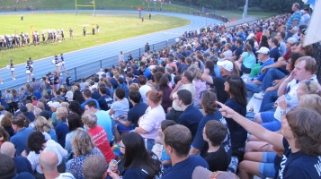 Blue Out Football Game, Benefit for Thelma Urban, Raider Band, Sports Stadium, Tamaqua, 9-4-2015 (373)