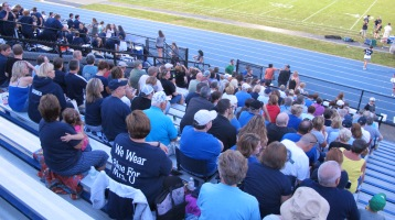 Blue Out Football Game, Benefit for Thelma Urban, Raider Band, Sports Stadium, Tamaqua, 9-4-2015 (374)