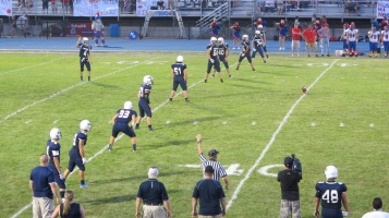 Blue Out Football Game, Benefit for Thelma Urban, Raider Band, Sports Stadium, Tamaqua, 9-4-2015 (385)