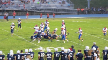 Blue Out Football Game, Benefit for Thelma Urban, Raider Band, Sports Stadium, Tamaqua, 9-4-2015 (389)