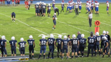 Blue Out Football Game, Benefit for Thelma Urban, Raider Band, Sports Stadium, Tamaqua, 9-4-2015 (396)