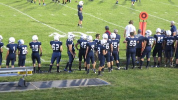 Blue Out Football Game, Benefit for Thelma Urban, Raider Band, Sports Stadium, Tamaqua, 9-4-2015 (400)