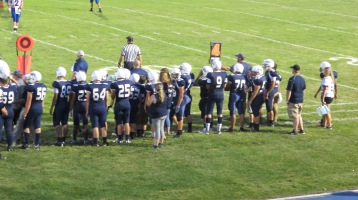 Blue Out Football Game, Benefit for Thelma Urban, Raider Band, Sports Stadium, Tamaqua, 9-4-2015 (401)