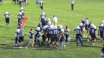 Blue Out Football Game, Benefit for Thelma Urban, Raider Band, Sports Stadium, Tamaqua, 9-4-2015 (403)