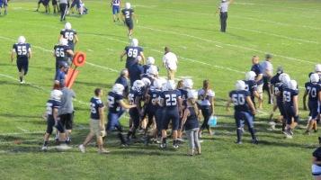 Blue Out Football Game, Benefit for Thelma Urban, Raider Band, Sports Stadium, Tamaqua, 9-4-2015 (403)