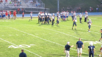Blue Out Football Game, Benefit for Thelma Urban, Raider Band, Sports Stadium, Tamaqua, 9-4-2015 (405)