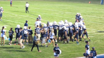 Blue Out Football Game, Benefit for Thelma Urban, Raider Band, Sports Stadium, Tamaqua, 9-4-2015 (406)