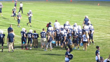 Blue Out Football Game, Benefit for Thelma Urban, Raider Band, Sports Stadium, Tamaqua, 9-4-2015 (407)