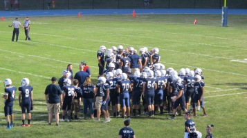 Blue Out Football Game, Benefit for Thelma Urban, Raider Band, Sports Stadium, Tamaqua, 9-4-2015 (409)