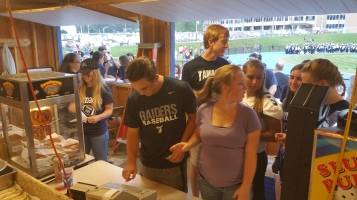 Blue Out Football Game, Benefit for Thelma Urban, Raider Band, Sports Stadium, Tamaqua, 9-4-2015 (41)