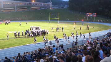 Blue Out Football Game, Benefit for Thelma Urban, Raider Band, Sports Stadium, Tamaqua, 9-4-2015 (410)