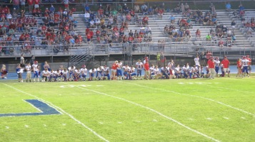 Blue Out Football Game, Benefit for Thelma Urban, Raider Band, Sports Stadium, Tamaqua, 9-4-2015 (411)