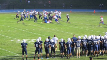 Blue Out Football Game, Benefit for Thelma Urban, Raider Band, Sports Stadium, Tamaqua, 9-4-2015 (414)