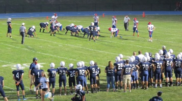 Blue Out Football Game, Benefit for Thelma Urban, Raider Band, Sports Stadium, Tamaqua, 9-4-2015 (417)