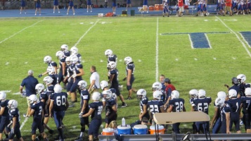 Blue Out Football Game, Benefit for Thelma Urban, Raider Band, Sports Stadium, Tamaqua, 9-4-2015 (420)
