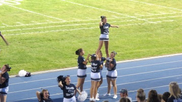 Blue Out Football Game, Benefit for Thelma Urban, Raider Band, Sports Stadium, Tamaqua, 9-4-2015 (424)