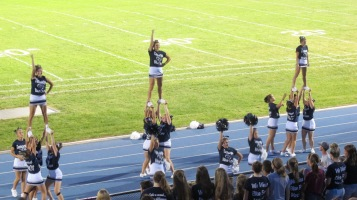 Blue Out Football Game, Benefit for Thelma Urban, Raider Band, Sports Stadium, Tamaqua, 9-4-2015 (428)