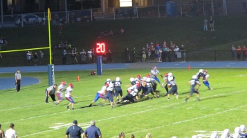 Blue Out Football Game, Benefit for Thelma Urban, Raider Band, Sports Stadium, Tamaqua, 9-4-2015 (438)