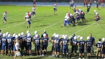 Blue Out Football Game, Benefit for Thelma Urban, Raider Band, Sports Stadium, Tamaqua, 9-4-2015 (445)