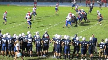Blue Out Football Game, Benefit for Thelma Urban, Raider Band, Sports Stadium, Tamaqua, 9-4-2015 (445)