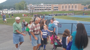 Blue Out Football Game, Benefit for Thelma Urban, Raider Band, Sports Stadium, Tamaqua, 9-4-2015 (45)