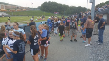 Blue Out Football Game, Benefit for Thelma Urban, Raider Band, Sports Stadium, Tamaqua, 9-4-2015 (46)