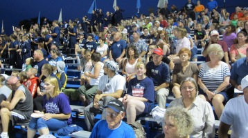 Blue Out Football Game, Benefit for Thelma Urban, Raider Band, Sports Stadium, Tamaqua, 9-4-2015 (462)