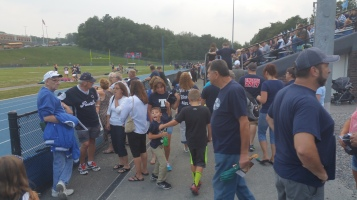 Blue Out Football Game, Benefit for Thelma Urban, Raider Band, Sports Stadium, Tamaqua, 9-4-2015 (47)