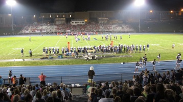 Blue Out Football Game, Benefit for Thelma Urban, Raider Band, Sports Stadium, Tamaqua, 9-4-2015 (470)