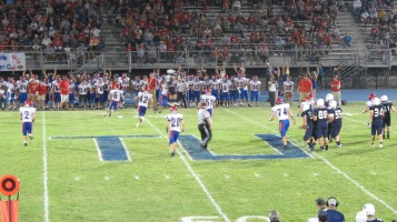 Blue Out Football Game, Benefit for Thelma Urban, Raider Band, Sports Stadium, Tamaqua, 9-4-2015 (474)