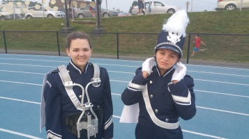 Blue Out Football Game, Benefit for Thelma Urban, Raider Band, Sports Stadium, Tamaqua, 9-4-2015 (49)