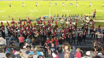 Blue Out Football Game, Benefit for Thelma Urban, Raider Band, Sports Stadium, Tamaqua, 9-4-2015 (495)