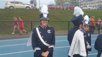 Blue Out Football Game, Benefit for Thelma Urban, Raider Band, Sports Stadium, Tamaqua, 9-4-2015 (50)