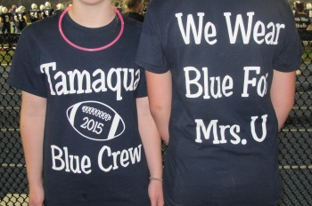 Blue Out Football Game, Benefit for Thelma Urban, Raider Band, Sports Stadium, Tamaqua, 9-4-2015 (535)