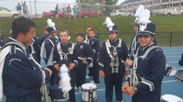 Blue Out Football Game, Benefit for Thelma Urban, Raider Band, Sports Stadium, Tamaqua, 9-4-2015 (55)