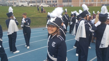 Blue Out Football Game, Benefit for Thelma Urban, Raider Band, Sports Stadium, Tamaqua, 9-4-2015 (58)