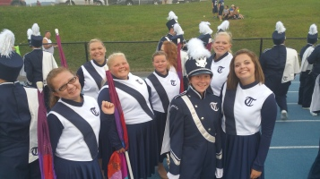 Blue Out Football Game, Benefit for Thelma Urban, Raider Band, Sports Stadium, Tamaqua, 9-4-2015 (65)