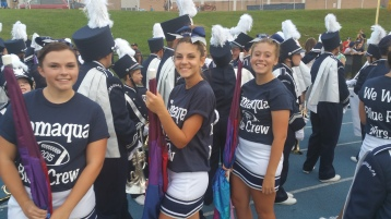Blue Out Football Game, Benefit for Thelma Urban, Raider Band, Sports Stadium, Tamaqua, 9-4-2015 (77)