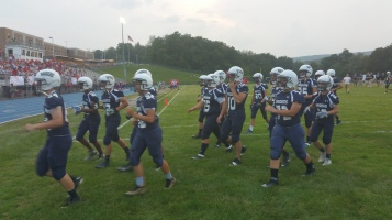 Blue Out Football Game, Benefit for Thelma Urban, Raider Band, Sports Stadium, Tamaqua, 9-4-2015 (82)