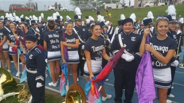 Blue Out Football Game, Benefit for Thelma Urban, Raider Band, Sports Stadium, Tamaqua, 9-4-2015 (83)