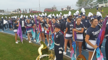 Blue Out Football Game, Benefit for Thelma Urban, Raider Band, Sports Stadium, Tamaqua, 9-4-2015 (84)