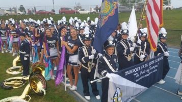 Blue Out Football Game, Benefit for Thelma Urban, Raider Band, Sports Stadium, Tamaqua, 9-4-2015 (86)