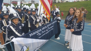 Blue Out Football Game, Benefit for Thelma Urban, Raider Band, Sports Stadium, Tamaqua, 9-4-2015 (87)