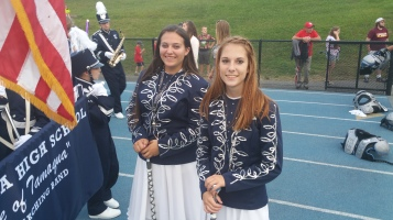 Blue Out Football Game, Benefit for Thelma Urban, Raider Band, Sports Stadium, Tamaqua, 9-4-2015 (88)