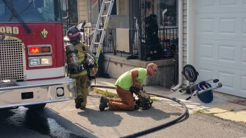 House Fire, Smoke, West Water Street, Lansford, 9-1-2015 (16)