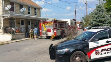 House Fire, Smoke, West Water Street, Lansford, 9-1-2015 (18)