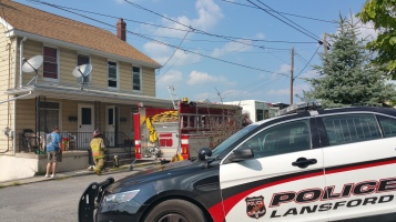 House Fire, Smoke, West Water Street, Lansford, 9-1-2015 (21)
