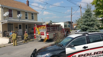 House Fire, Smoke, West Water Street, Lansford, 9-1-2015 (22)